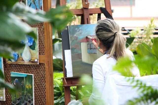 lær akrylmaleri online